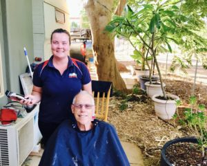 Bill at Barber at Wintersun Caravan Park