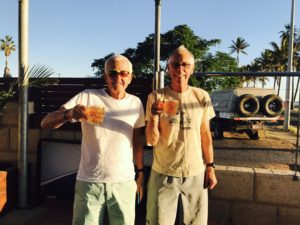 Bob and Bill having a beer at Carnarvon