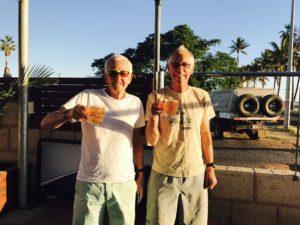 Bob and Bill having a beer at Carnarvon