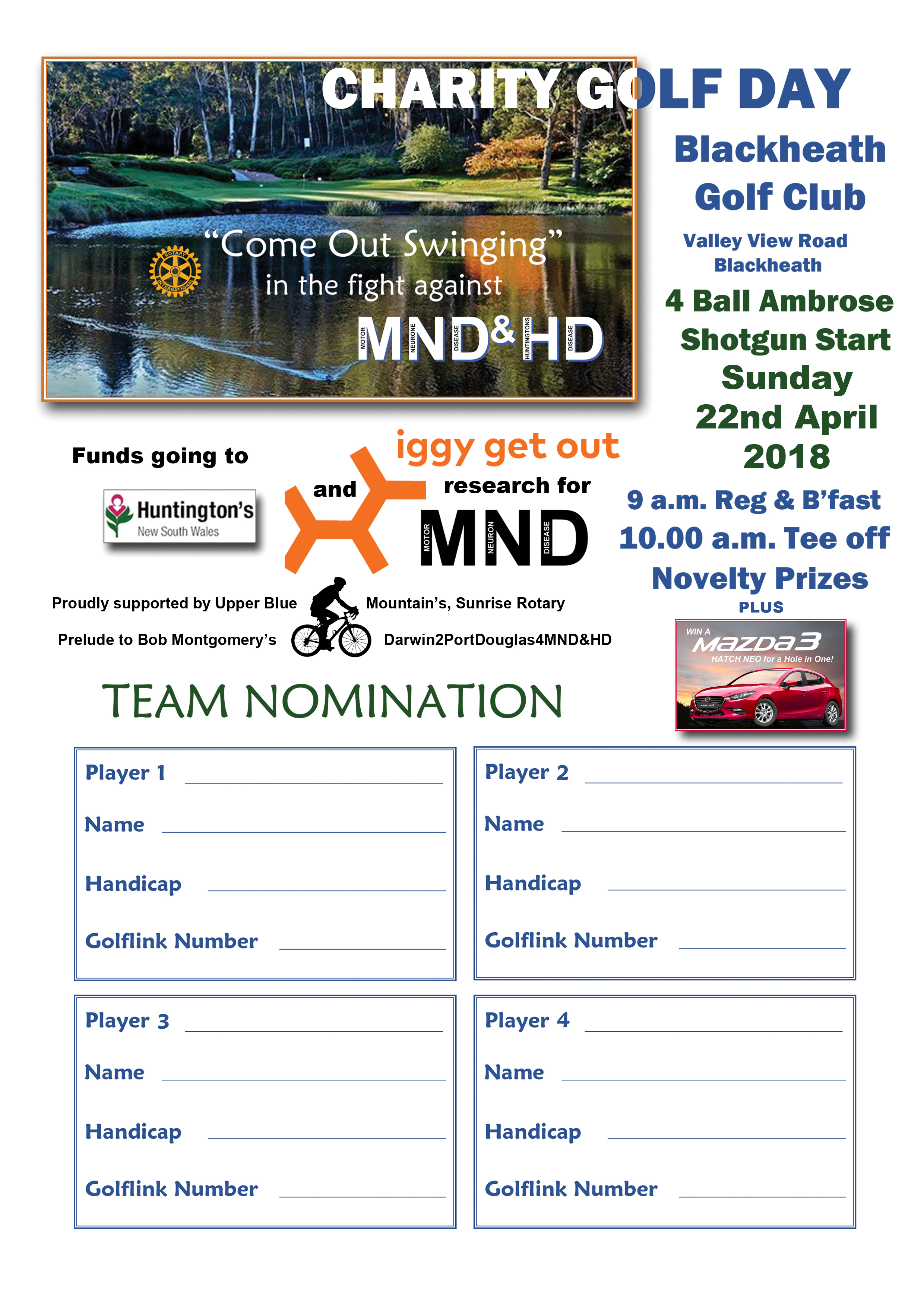 Darwin 2 PD golf day nomination form