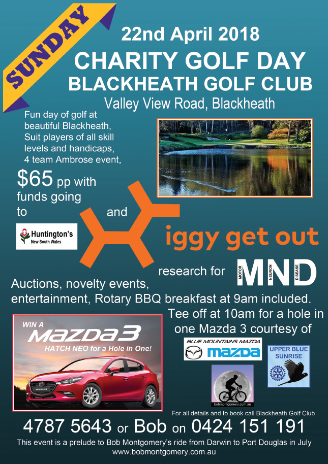 Blackheath Golf Day to Raise Money for iggy get out (MND) & Huntington's Disease